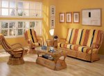 Плетеная мебель в городском интерьере